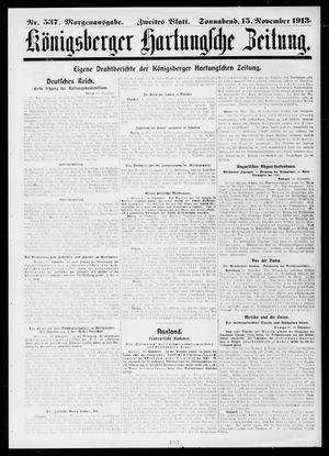 Königsberger Hartungsche Zeitung vom 15.11.1913
