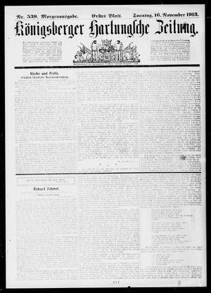 Königsberger Hartungsche Zeitung vom 16.11.1913
