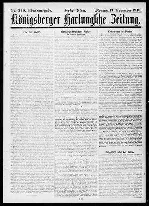 Königsberger Hartungsche Zeitung vom 17.11.1913