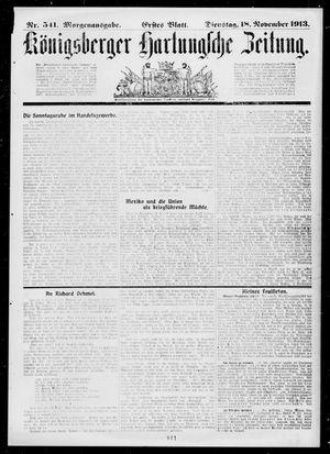 Königsberger Hartungsche Zeitung vom 18.11.1913
