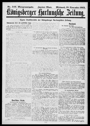 Königsberger Hartungsche Zeitung on Nov 19, 1913