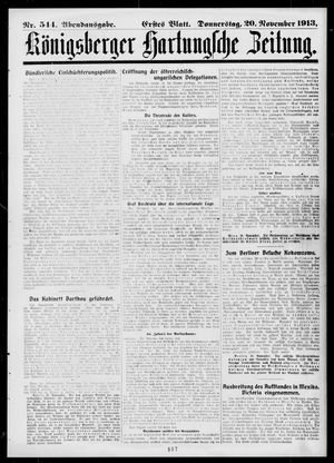 Königsberger Hartungsche Zeitung vom 20.11.1913