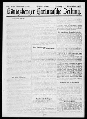 Königsberger Hartungsche Zeitung vom 21.11.1913
