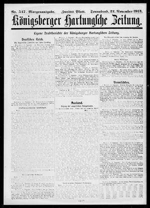 Königsberger Hartungsche Zeitung vom 22.11.1913