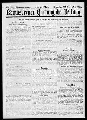 Königsberger Hartungsche Zeitung vom 23.11.1913