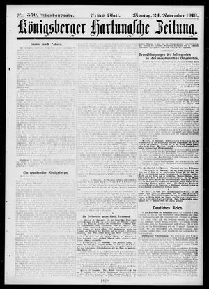 Königsberger Hartungsche Zeitung vom 24.11.1913