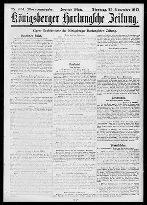 Königsberger Hartungsche Zeitung vom 25.11.1913