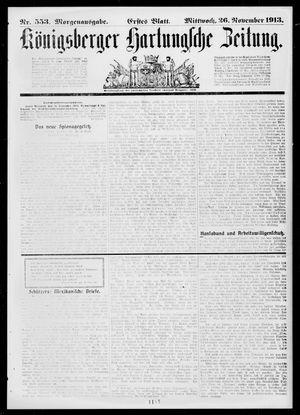 Königsberger Hartungsche Zeitung vom 26.11.1913