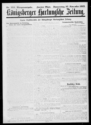 Königsberger Hartungsche Zeitung vom 27.11.1913