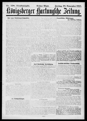 Königsberger Hartungsche Zeitung vom 28.11.1913