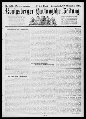 Königsberger Hartungsche Zeitung on Nov 29, 1913