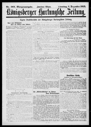 Königsberger Hartungsche Zeitung vom 02.12.1913