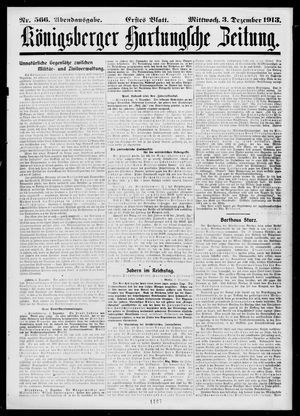 Königsberger Hartungsche Zeitung on Dec 3, 1913
