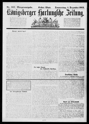 Königsberger Hartungsche Zeitung vom 04.12.1913