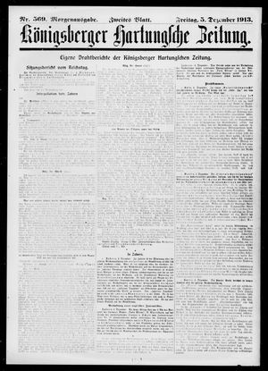 Königsberger Hartungsche Zeitung vom 05.12.1913