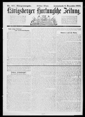 Königsberger Hartungsche Zeitung on Dec 6, 1913