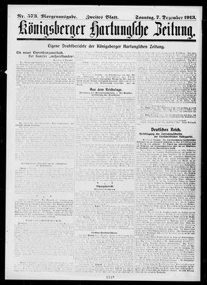 Königsberger Hartungsche Zeitung vom 07.12.1913