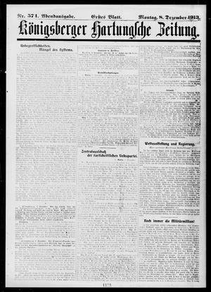 Königsberger Hartungsche Zeitung vom 08.12.1913