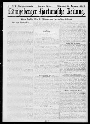 Königsberger Hartungsche Zeitung vom 10.12.1913