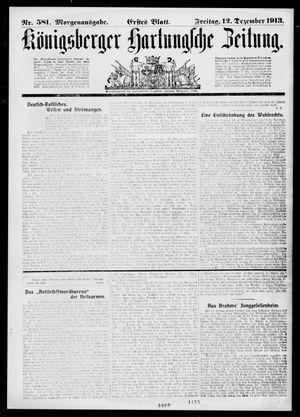 Königsberger Hartungsche Zeitung vom 12.12.1913
