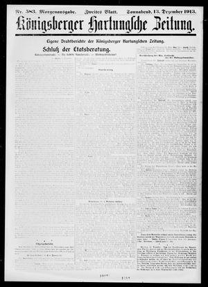 Königsberger Hartungsche Zeitung vom 13.12.1913