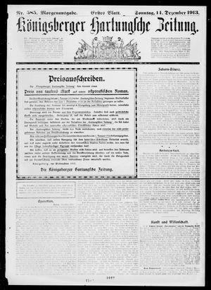 Königsberger Hartungsche Zeitung vom 14.12.1913