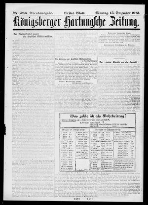 Königsberger Hartungsche Zeitung on Dec 15, 1913