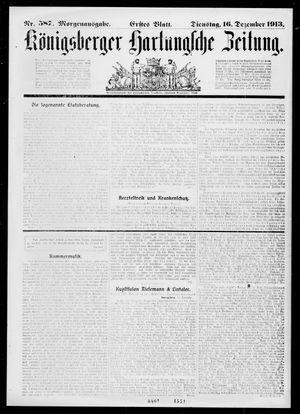 Königsberger Hartungsche Zeitung vom 16.12.1913