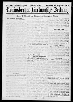 Königsberger Hartungsche Zeitung vom 17.12.1913