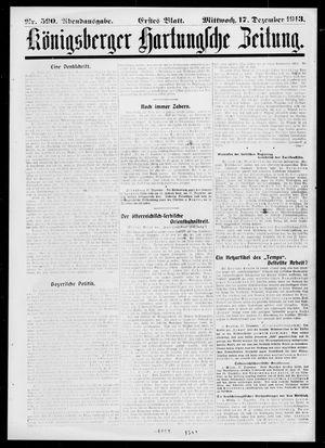 Königsberger Hartungsche Zeitung on Dec 17, 1913