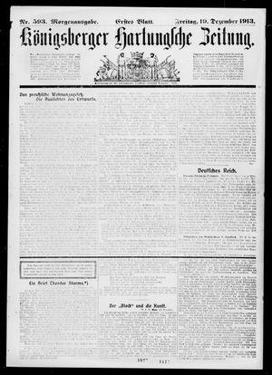Königsberger Hartungsche Zeitung vom 19.12.1913