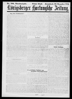 Königsberger Hartungsche Zeitung vom 20.12.1913
