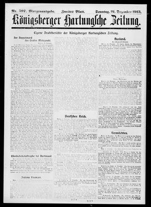 Königsberger Hartungsche Zeitung vom 21.12.1913