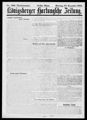 Königsberger Hartungsche Zeitung on Dec 22, 1913