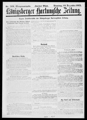 Königsberger Hartungsche Zeitung on Dec 23, 1913