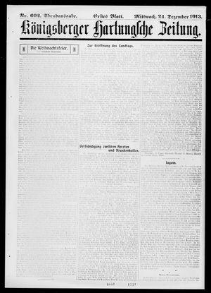 Königsberger Hartungsche Zeitung vom 24.12.1913