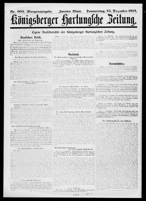 Königsberger Hartungsche Zeitung vom 25.12.1913