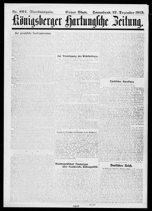 Königsberger Hartungsche Zeitung vom 27.12.1913