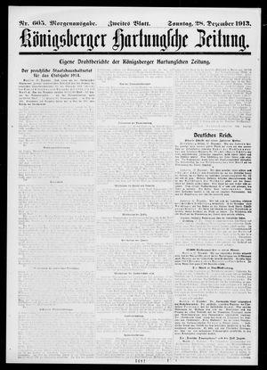 Königsberger Hartungsche Zeitung vom 28.12.1913