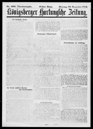Königsberger Hartungsche Zeitung vom 29.12.1913
