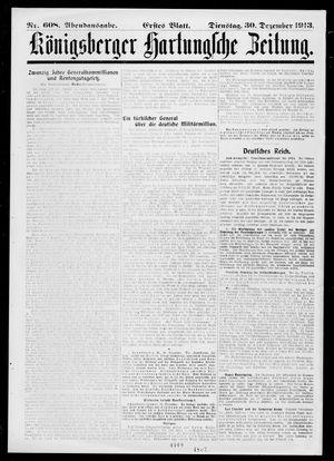 Königsberger Hartungsche Zeitung vom 30.12.1913