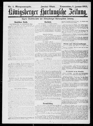 Königsberger Hartungsche Zeitung vom 01.01.1914