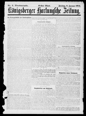 Königsberger Hartungsche Zeitung vom 02.01.1914