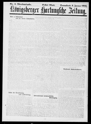Königsberger Hartungsche Zeitung vom 03.01.1914