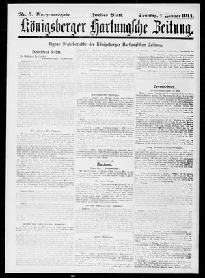 Königsberger Hartungsche Zeitung vom 04.01.1914