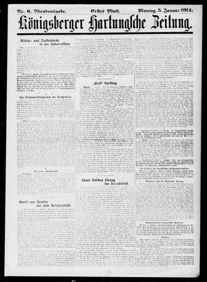 Königsberger Hartungsche Zeitung vom 05.01.1914