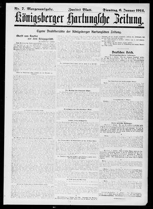 Königsberger Hartungsche Zeitung vom 06.01.1914