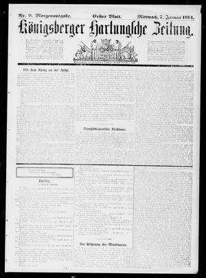 Königsberger Hartungsche Zeitung vom 07.01.1914