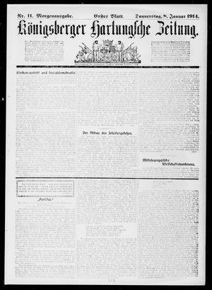 Königsberger Hartungsche Zeitung vom 08.01.1914