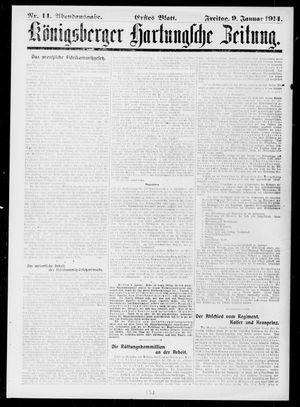 Königsberger Hartungsche Zeitung vom 09.01.1914